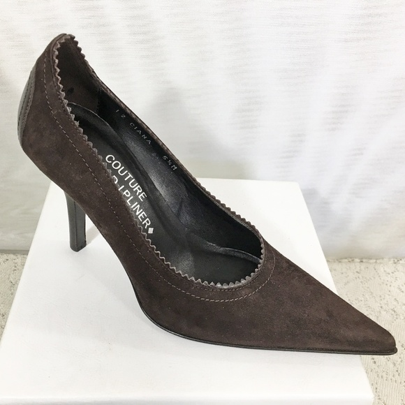 b579b840724d NEW Donald Pliner Ciana Brown Leather Suede Pumps